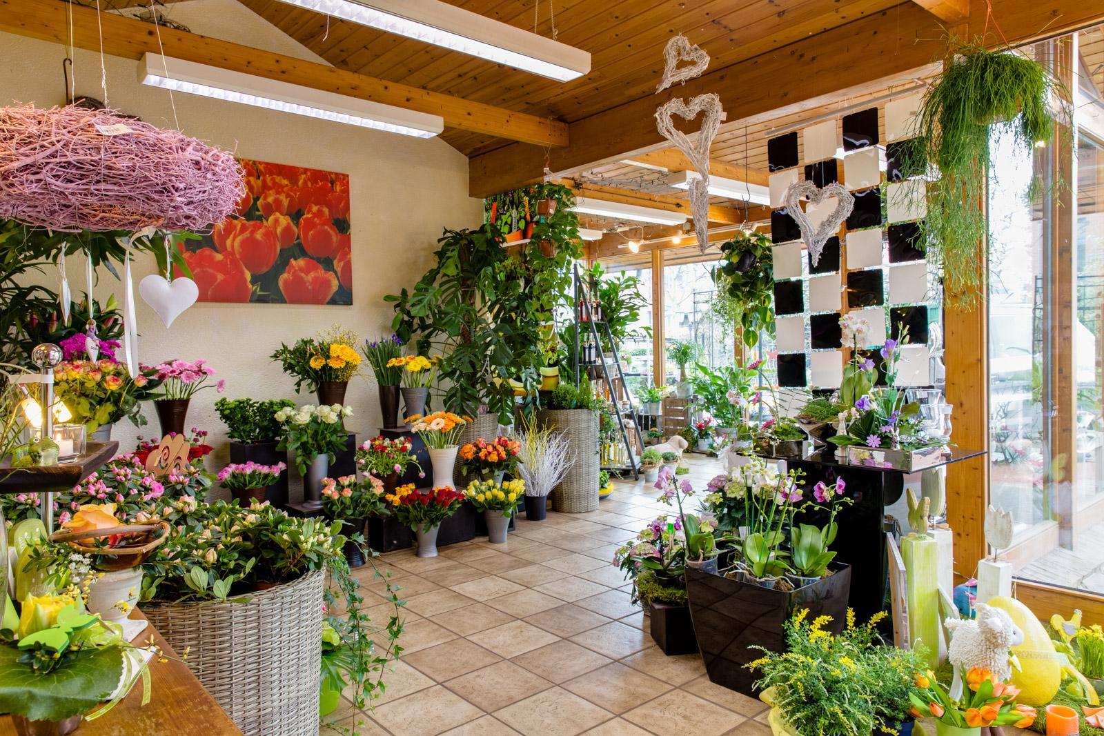 Innenansicht vom Blumengeschäft Lydia Meuter in Jüchen